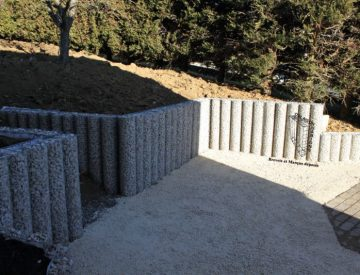 GABIONS A COLONNES DE DIAMETRE 20 cm