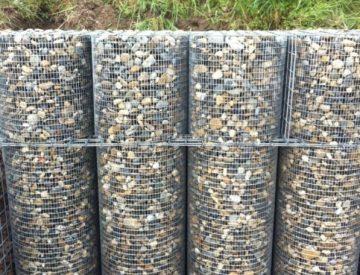 Gabions traditionnels à plancher d'ancrage